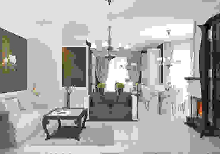Частный дом в Краснодарском крае. Гостиная в классическом стиле от elitdizayn Классический