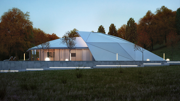 КОНЦЕПТ ВИЛЛЫ / АЛМАТЫ Дома в стиле модерн от Lenz Architects Модерн