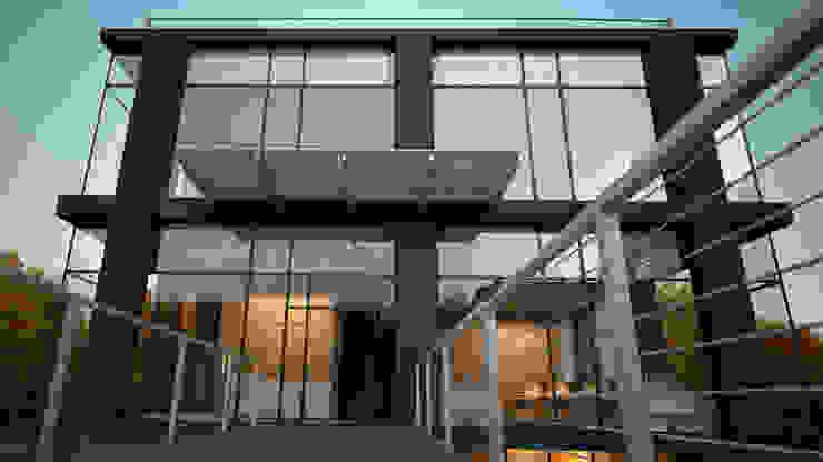BUSINESS CENTER / RADLOVA STR, ALMATY Офисные помещения в стиле модерн от Lenz Architects Модерн