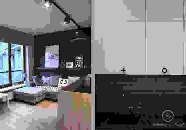 GREY II Nowoczesny salon od Kołodziej & Szmyt Projektowanie wnętrz Nowoczesny