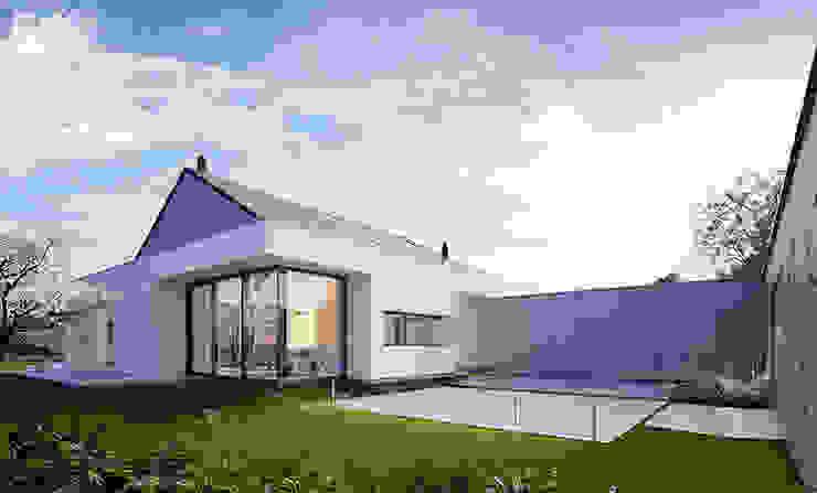 Casas estilo moderno: ideas, arquitectura e imágenes de Pracownia projektowa artMOKO Moderno