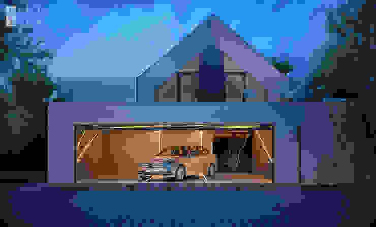 Garajes y galpones de estilo moderno de Pracownia projektowa artMOKO Moderno