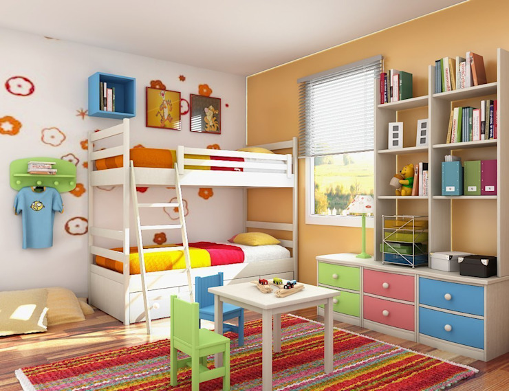 Dormitorios infantiles de estilo moderno de Tadilat Firması Moderno