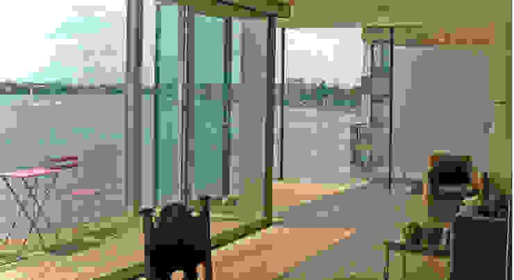View of the Thames DoorTechnik Ltd Minimal style window and door