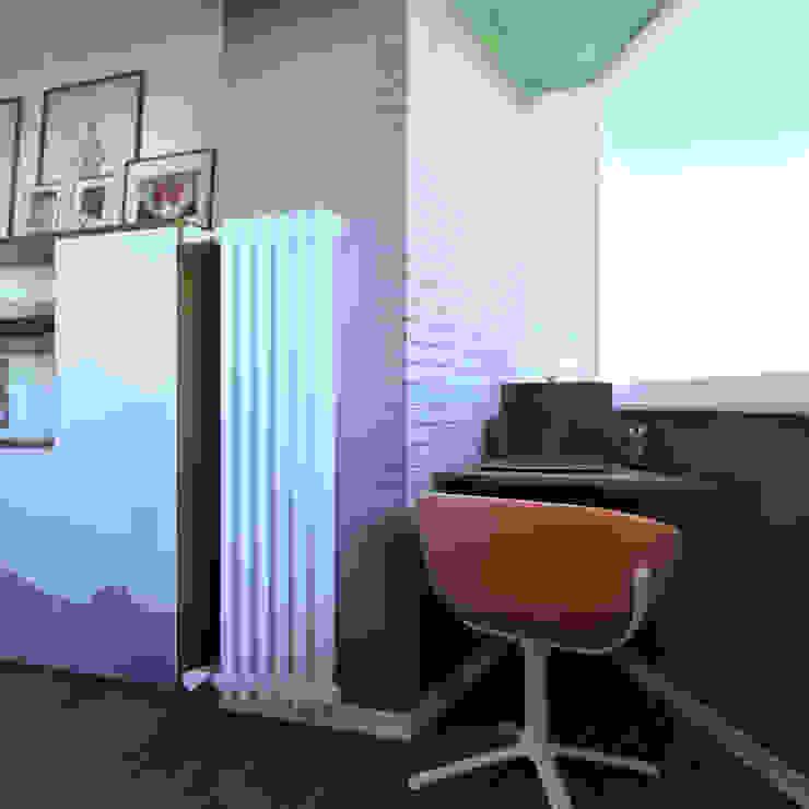 дизайн квартиры 40м2 Балкон в скандинавском стиле от sreda Скандинавский