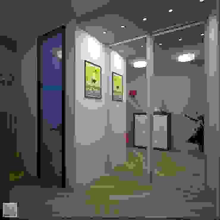 Коридор Коридор, прихожая и лестница в стиле лофт от Burkov Studio Лофт