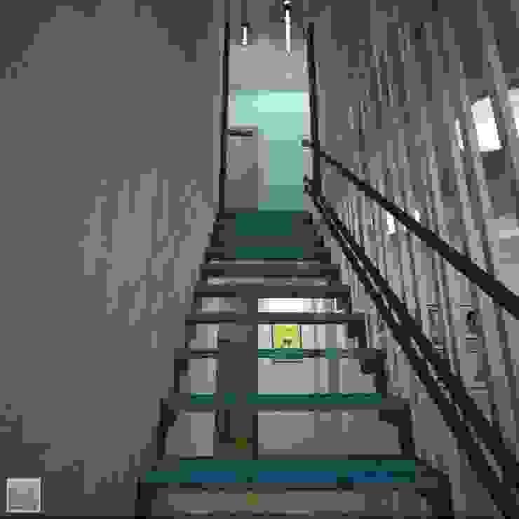 Лестница Коридор, прихожая и лестница в стиле лофт от Burkov Studio Лофт