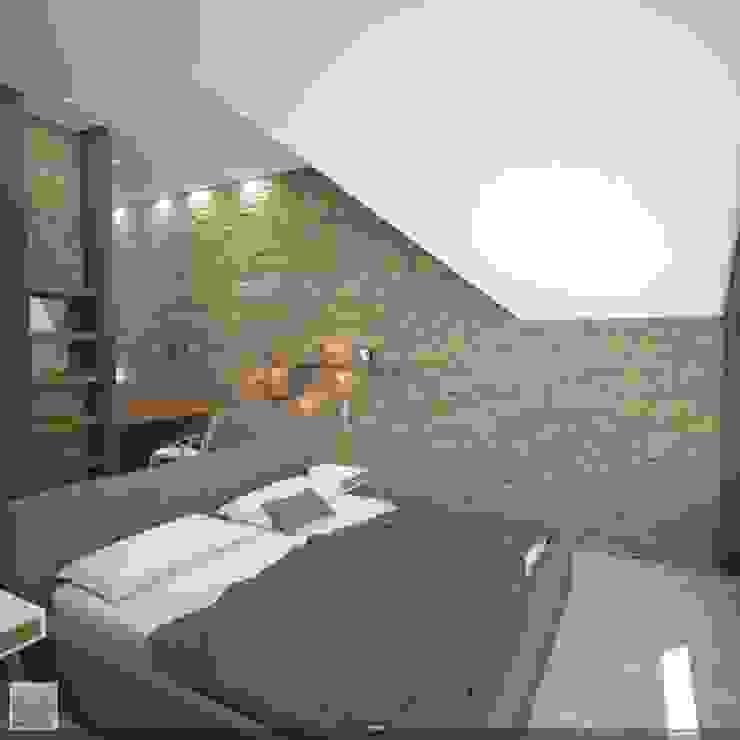 Спальня Спальня в стиле лофт от Burkov Studio Лофт