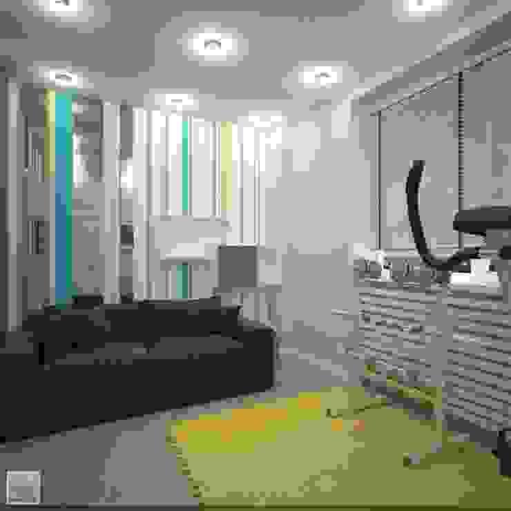 Тренажерная Тренажерный зал в стиле лофт от Burkov Studio Лофт