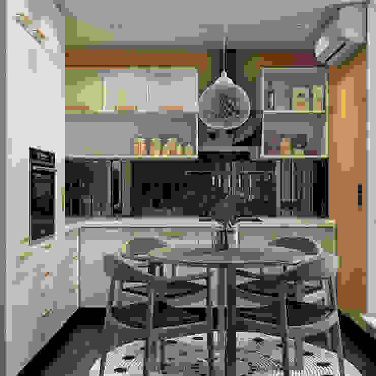 дизайн квартиры 42м2 Кухня в скандинавском стиле от sreda Скандинавский