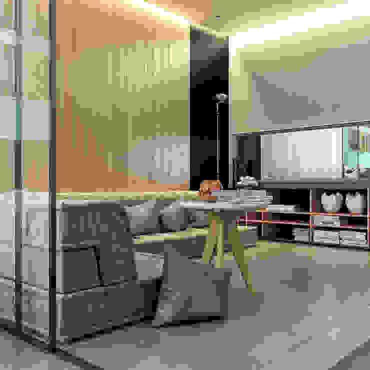 дизайн квартиры 42м2 Гостиная в скандинавском стиле от sreda Скандинавский