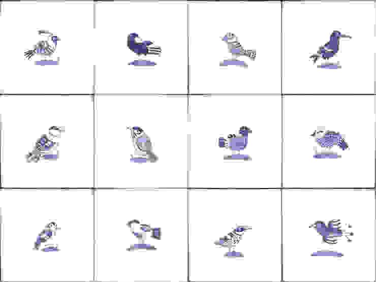 Bluebird tiles de Reptile tiles & ceramics Clásico