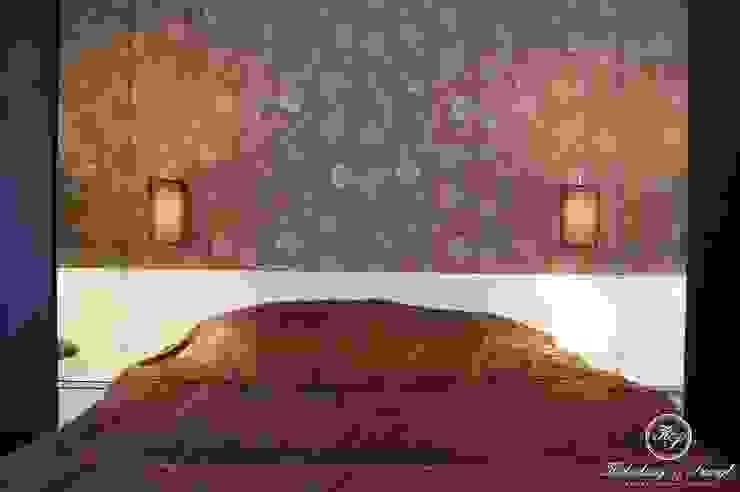 غرفة نوم تنفيذ Kołodziej & Szmyt Projektowanie wnętrz,