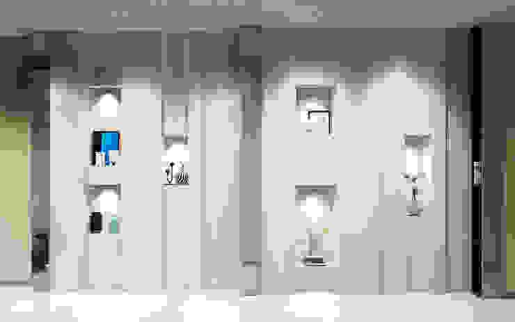Квартира в ЖК Чемпион-парк Коридор, прихожая и лестница в стиле минимализм от Михаил Новинский (MNdesign) Минимализм