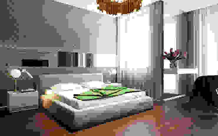 Квартира в ЖК Чемпион-парк Спальня в стиле минимализм от Михаил Новинский (MNdesign) Минимализм