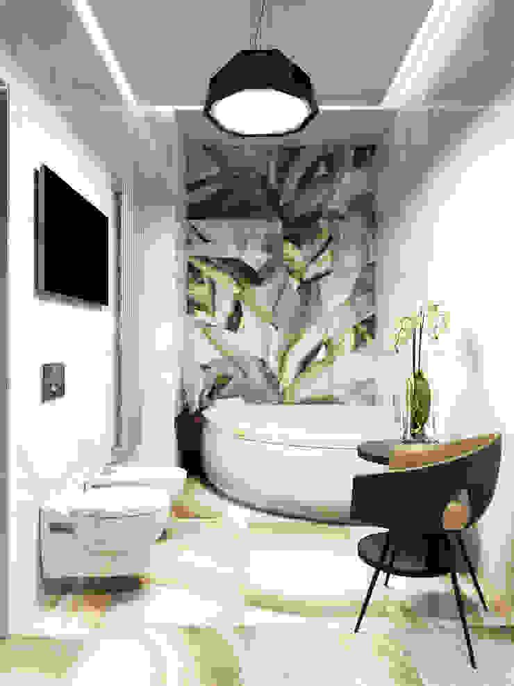 Квартира в ЖК Чемпион-парк Ванная комната в стиле минимализм от Михаил Новинский (MNdesign) Минимализм