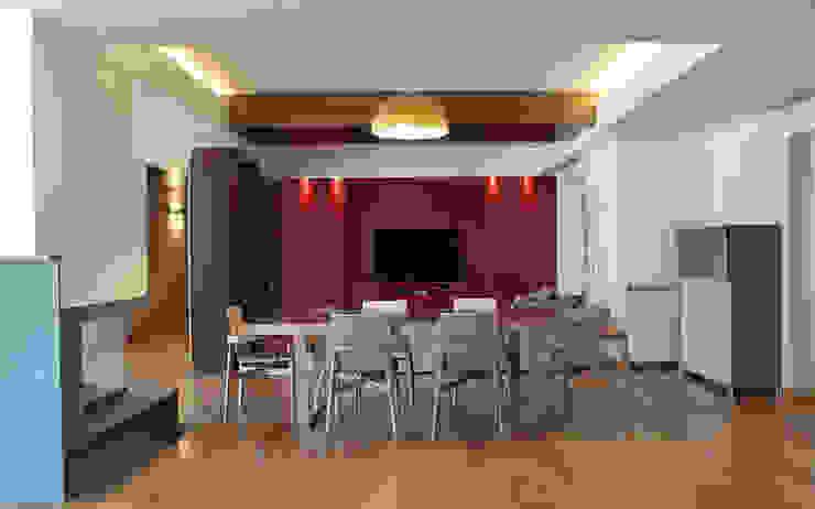 Living Sala da pranzo moderna di UAIG   Ufficio Architettura Interni Grammauta Moderno
