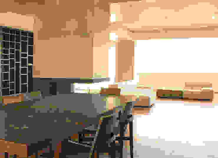 Area living Sala da pranzo moderna di UAIG   Ufficio Architettura Interni Grammauta Moderno