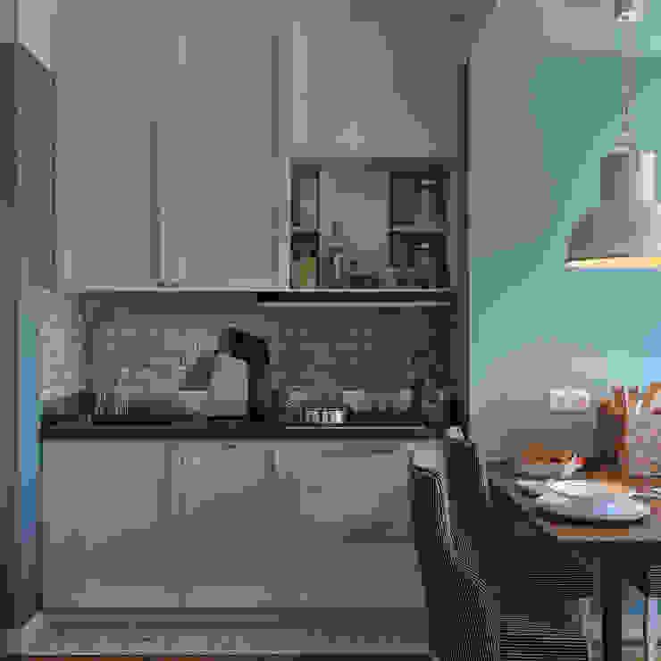дизайн квартиры 60м2 г. Санкт-Петербург Кухня в классическом стиле от sreda Классический