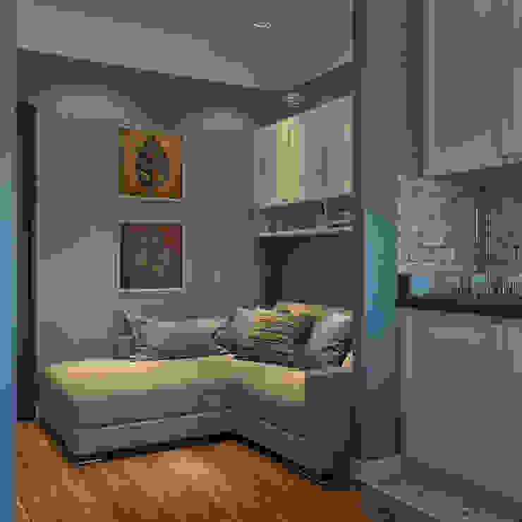 дизайн квартиры 60м2 г. Санкт-Петербург Гостиная в классическом стиле от sreda Классический
