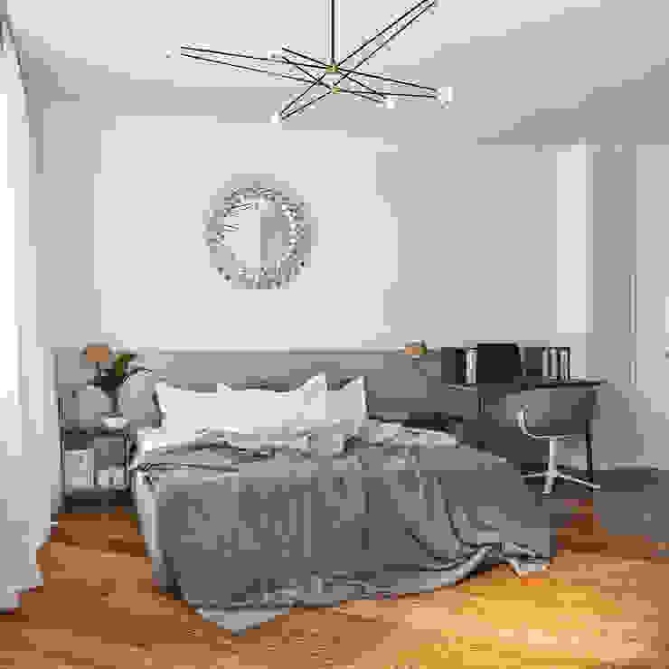 дизайн квартиры 60м2 г. Санкт-Петербург Спальня в классическом стиле от sreda Классический