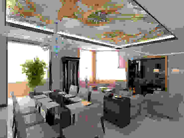Интерьер гостиной в стиле модерн Студия дизайна интерьера Руслана и Марии Грин Гостиная в стиле модерн