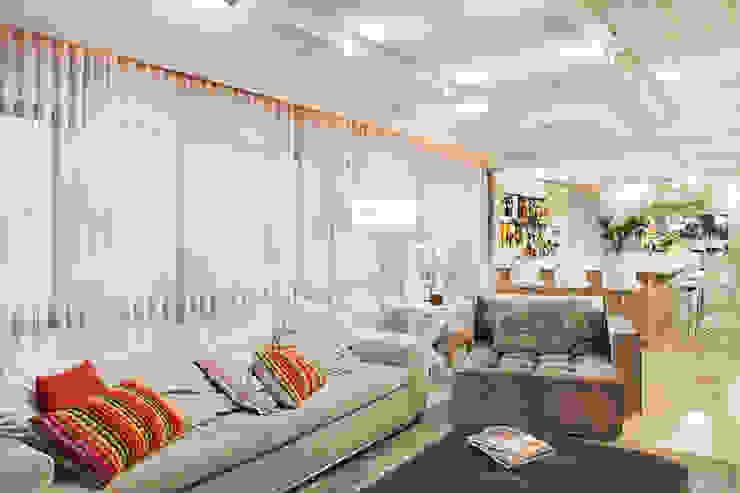 Apartamento Bela Vista 2 Salas de estar modernas por Mundstock Arquitetura Moderno