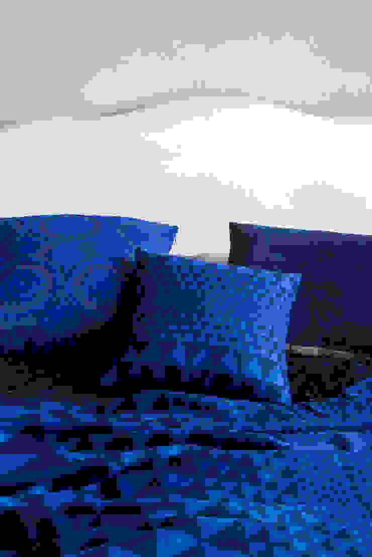 Isosceles Merino wool  Throw (Indigo): eclectic  by Niki Jones, Eclectic