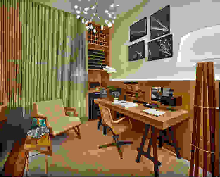 Arbeitszimmer von Ana Paula Carneiro Arquitetura e Interiores,