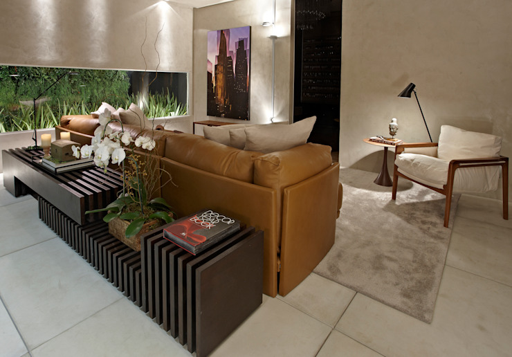 Salon minimaliste par Ana Paula Carneiro Arquitetura e Interiores Minimaliste
