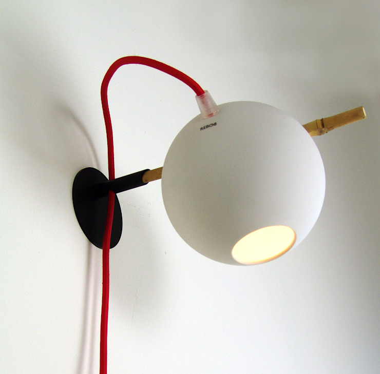 Bamboo wall light van Rebob Scandinavisch