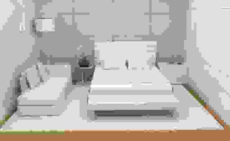 Suíte - Apartamento Copacabana - Rio de Janeiro / RJ Quartos minimalistas por Ana Paula Carneiro Arquitetura e Interiores Minimalista