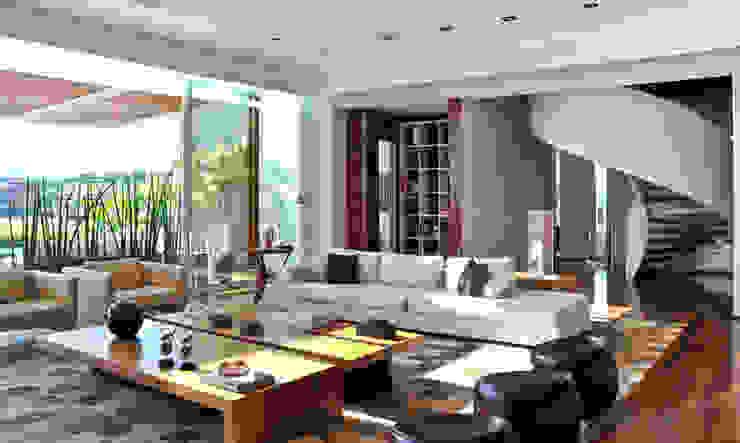 Sala de estar Salas de estar modernas por Maurício Queiróz Moderno