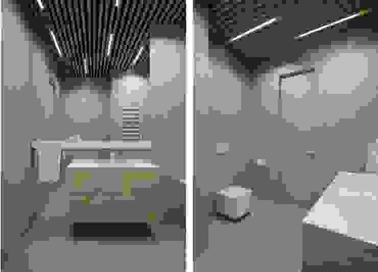 Дизайн проект квартиры от проекта до реализации Ванная комната в стиле модерн от Cтудия 'ART Story' Модерн