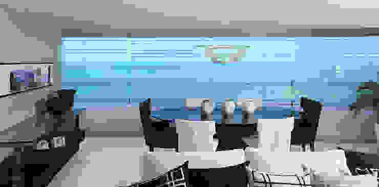 DUPLEX 490m² Salas de jantar modernas por Nejaim Azevedo Arquitetos Associados Moderno
