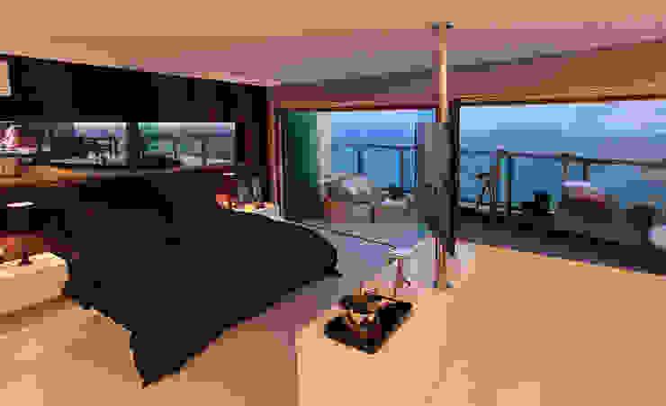 DUPLEX 490m² Quartos modernos por Nejaim Azevedo Arquitetos Associados Moderno