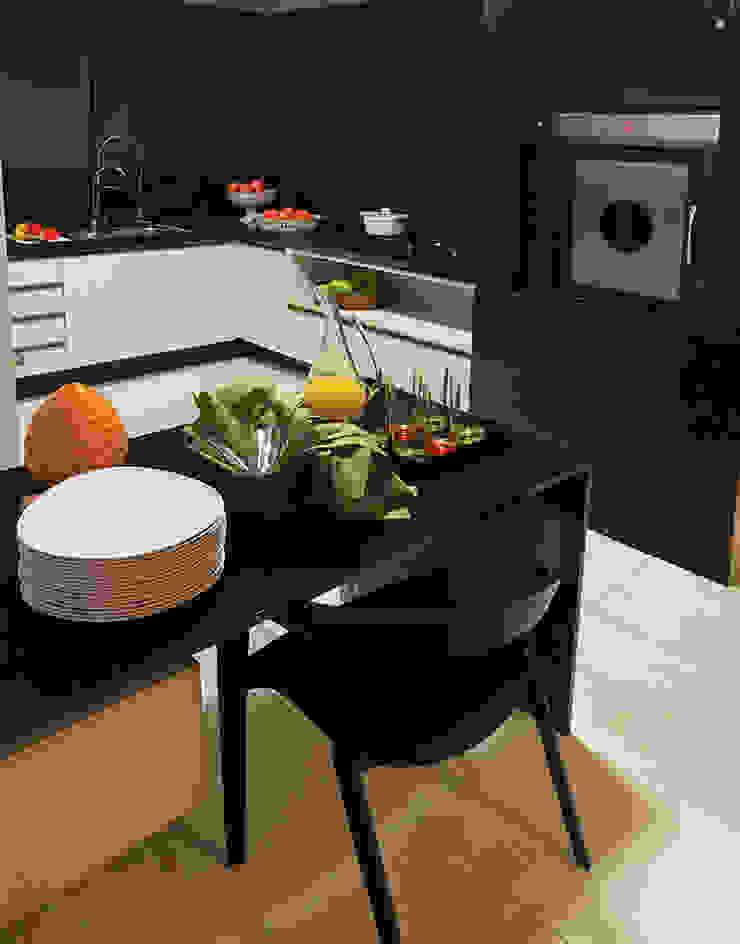 DUPLEX 490m² Cozinhas modernas por Nejaim Azevedo Arquitetos Associados Moderno