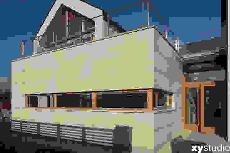 Dom jednorodzinny na Kabatach w Warszawie Nowoczesne domy od xystudio Nowoczesny