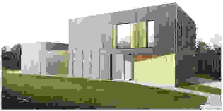 Dom Jednorodzinny - Wiązowna Nowoczesne domy od xystudio Nowoczesny