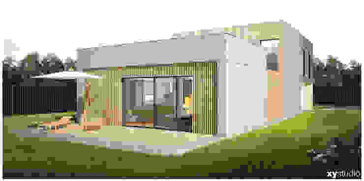 Dom Jednorodzinny – Wiązowna Nowoczesne domy od xystudio Nowoczesny