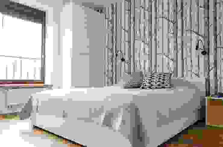 mieszkanie pomiędzy miastami | between big cities Studio Malina Skandynawska sypialnia