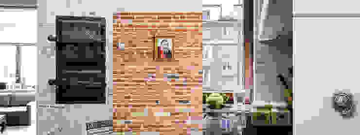 Przedwojenna kamienica Eklektyczny salon od Studio Malina Eklektyczny