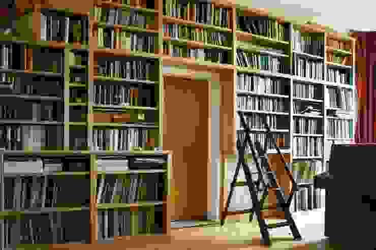 Modern Built in Bookcase in Oak by Built in Solutions