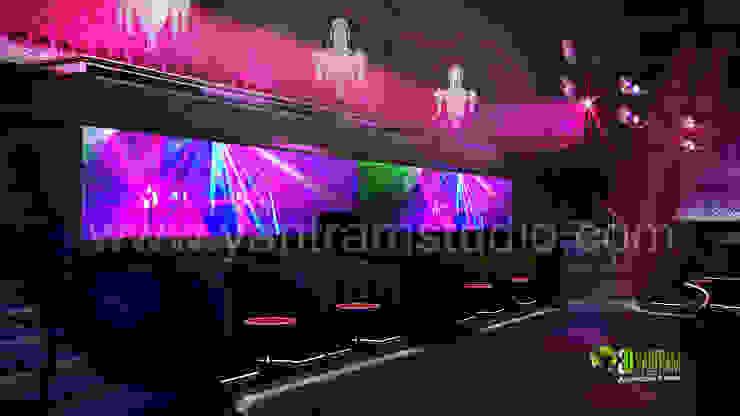 3D Interior Design Rendering For Modern Bar: modern  by Yantram Architectural Design Studio, Modern