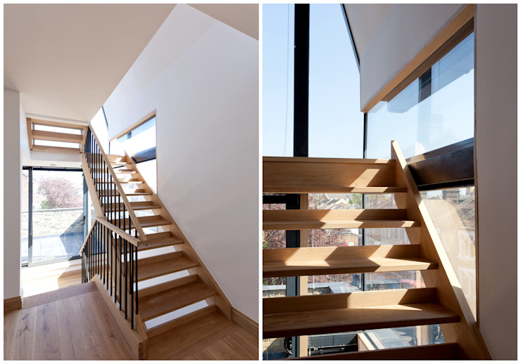 Stairwell Modern corridor, hallway & stairs by Twist In Architecture Modern