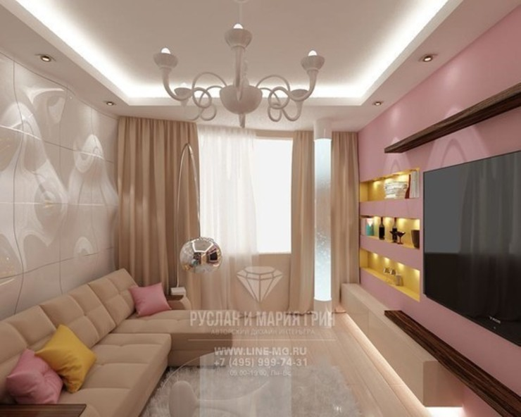 Дизайн гостиной Гостиная в стиле минимализм от Студия дизайна интерьера Руслана и Марии Грин Минимализм