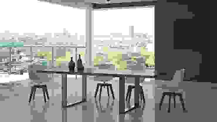 Drewniany stół w jadalni - Stello od Le Pukka Concept Store Nowoczesny