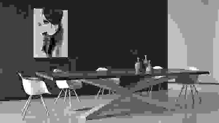 Drewniany stół w jadalni - Primal Wood od Le Pukka Concept Store Nowoczesny