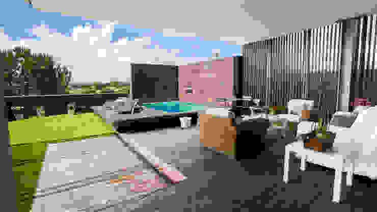 RENOVACIÓN DE VIVIENDA EN LA MORALEJA Jardines de estilo moderno de Empresa constructora en Madrid Moderno