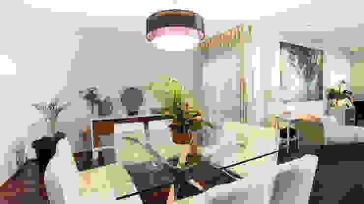 RENOVACIÓN DE VIVIENDA EN LA MORALEJA Salones de estilo moderno de Empresa constructora en Madrid Moderno